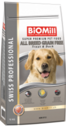BiOMill Swiss Professional Grain Free Dog Trout & Duck 12kg