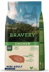 Bravery Grain Free Dog Adult  Mini Chicken 2kg