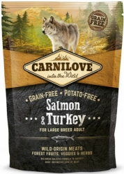 CarniLove Grain Free Dog Adult Large Breed Salmon & Turkey  1,5kg