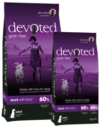 Devoted Grain Free Dog DUCK WITH TROUT  2kg