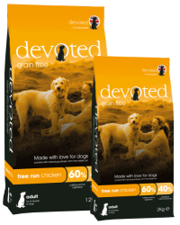 Devoted Grain Free Dog FREE RUN CHICKEN  2kg