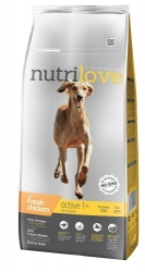 Nutrilove Dog Active with Fresh Chicken 12kg