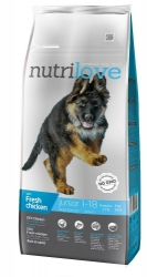 Nutrilove Dog Junior Large Breed with Fresh Chicken 12kg