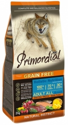 Primordial Grain Free Dog Adult Duck & Trout 12kg