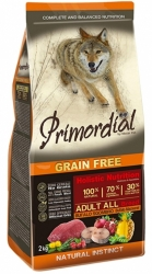 Primordial Grain Free Dog Adult Buffalo & Mackerel 12kg