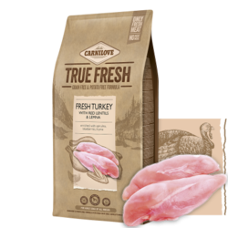 Carnilove True Fresh Dog Adult Fresh Turkey with Red Lentils and Lemna 4kg