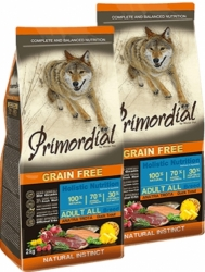 Primordial Grain Free Dog Adult Duck & Trout 2x12kg