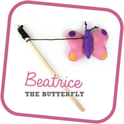 BeCo Family Catnip Wand Beatrice The Butterfly