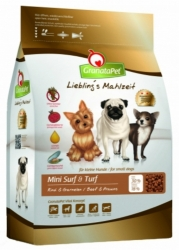 GranataPet Grain Free Dog Mini Surf & Turf Beef & Prawns 2kg