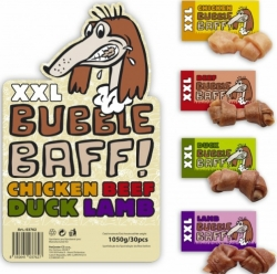 HuHuBamBoo Dog XXL Bubble Baff! Chicken Beef Duck Lamb Chewing Gum 1050g