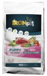 IRONpet Dog Puppy Beef & Rice 12kg
