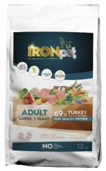 IRONpet Dog Adult Large & Giant Breed Turkey 12kg