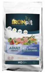IRONpet Dog Adult Medium Breed Turkey & Rice 12kg