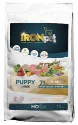 IRONpet Dog Puppy Large Breed Turkey & Rice 12kg