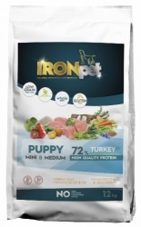 IRONpet Dog Puppy Mini & Medium Breed Turkey & Rice 12kg