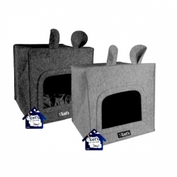 Holland Animal Care Pelíšek Let´s Sleep Cave Grey 40x40cm