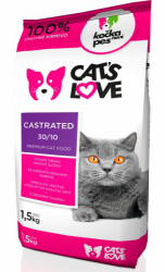 Nativia Cat´s Love Castrated 1,5kg