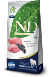 N&D Grain Free Dog Adult Maxi Breed Lamb & Blueberry 12kg