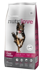 Nutrilove Dog Adult Medium Breed with Fresh Chicken 1,6kg