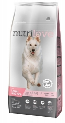 Nutrilove Dog Adult Sensitive Lamb and Rice 12kg