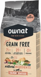 Ownat Just Grain Free Dog Adult Salmon & Seafood  3kg