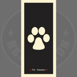 Pet Rebellion Běhoun Paw Black 45x100cm