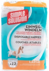 Simple Solution Disposable Nappies 12ks L