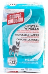 Simple Solution Disposable Nappies 12ks  M