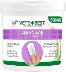 Vet´s Best Clean Ear Finger Pads 50ks