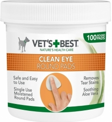 Vet´s Best Clean Eye Round Pads 100ks