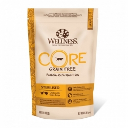 Wellness CORE Grain Free Cat Sterilised Chicken with Turkey Recipe  300g