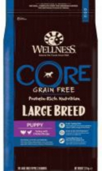 Wellness CORE Grain Free Dog Puppy Large Breed Turkey with Chicken Recipe  2,75kg