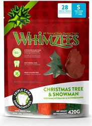 Whimzees Christmas Edition Natural Dental Care Stix Small 28ks